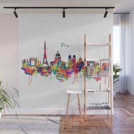 Paris Skyline Silhouette Wall Mural