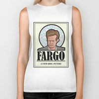 fargo Biker Tanks featuring FARGO - A Coen Bros. Picture by Damn Fine Design