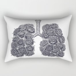 Lungs with peonies Rectangular Pillow
