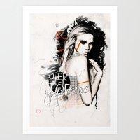 supreme Art Prints featuring Supreme by Bungo Design