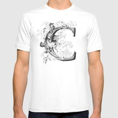 Monogram _C Mens Fitted Tee White MEDIUM
