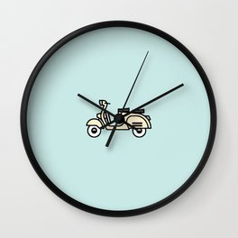 Surfer Bike Vespa Wall Clock