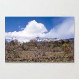 Sicilian Volcano ETNA Canvas Print