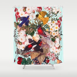 Floral and Birds XXXI Shower Curtain