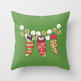 Jingle Meow Throw Pillow