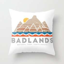 Badlands National Park, South Dakota Throw Pillow