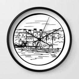 Wales castle Wall Clock