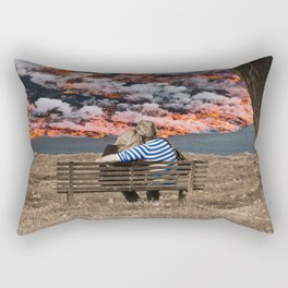 Volcano Eruption Rectangular Pillow