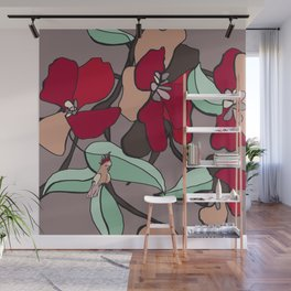 Huge flowers for you Wall Mural