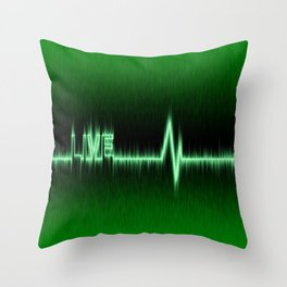 Heart or pulse rate effect Throw Pillow