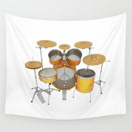 Yellow Drum Kit Wall Tapestry