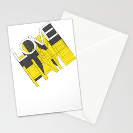 HATE LOVE Stationery Cards