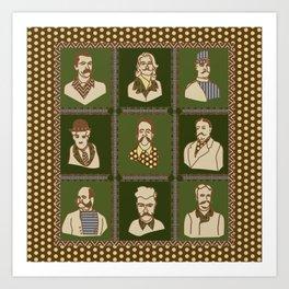 Men of the 'Stache Art Print