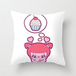Mmmmmm, cupcakes Throw Pillow