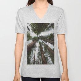 Redwood Portal - nature photography Unisex V-Neck