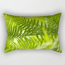 Green Fern Abstract Rectangular Pillow