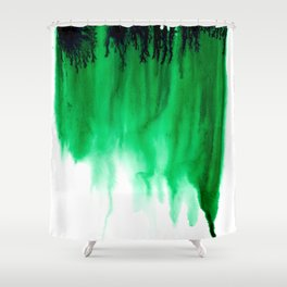 Emerald Bleed Shower Curtain