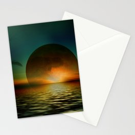 it's a bad moon rising Stationery Cards