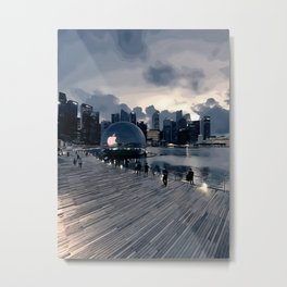 First ever floating Apple store in the world Metal Print