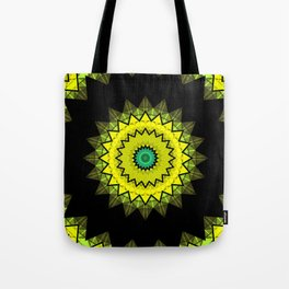 Black and yellow round ornament 2 . Tote Bag