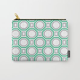 Green Harmony in Symmetry Carry-All Pouch