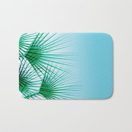 Airhead - memphis throwback retro vintage ombre blue palm springs socal california dreamer pop art Bath Mat