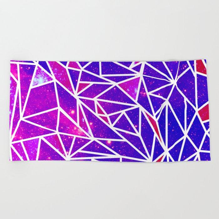 Starry Crystalline Space Pattern Beach Towel
