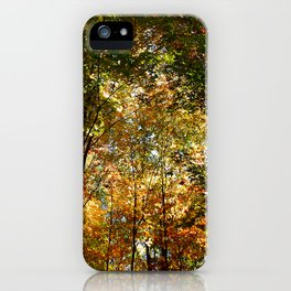 Through the Trees in October iPhone Case