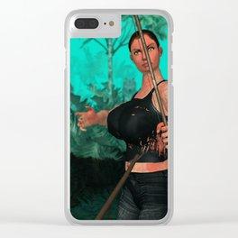 Survivor shot Clear iPhone Case