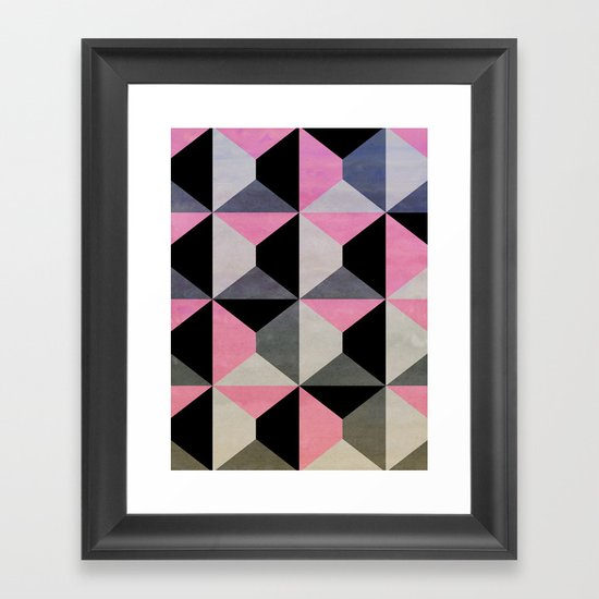 colour + pattern 9 Framed Art Print
