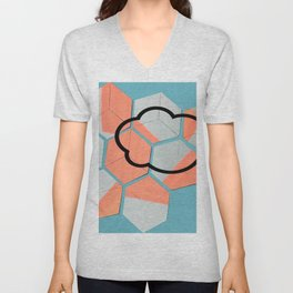 Cloud geometry Unisex V-Neck