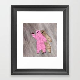 Build A Bigger Bear, Catch a Load of Salmon Framed Art Print