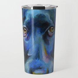 Blue-ish Black Lab Travel Mug