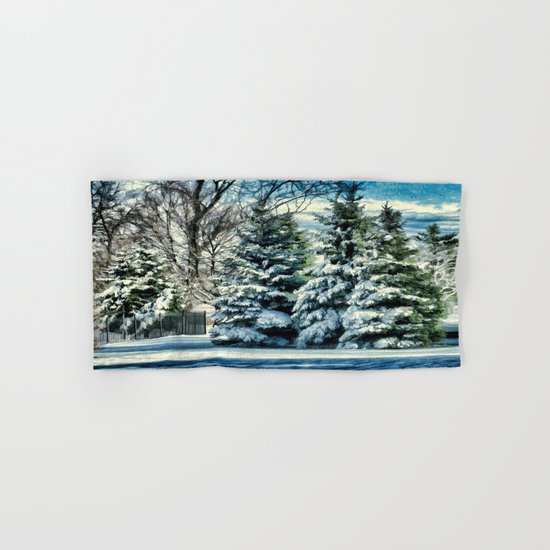 Winter In New England Hand & Bath Towel