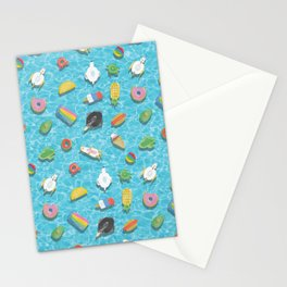 Pool floaties Stationery Cards