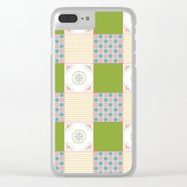 Patchwork Counrty Fair Clear iPhone Case