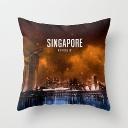 Singapore Wallpaper Throw Pillow