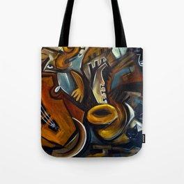 Black Cat Jazz Tote Bag