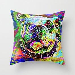 English Bulldog Painting Throw Pillow