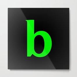 b (LIME & BLACK LETTERS) Metal Print