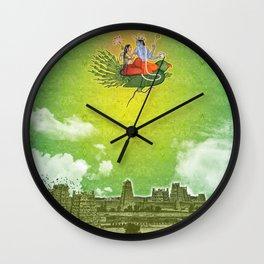 Dravidian Skies Wall Clock