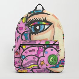 Cotton Candy Hair Girl Backpack
