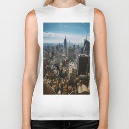 NYC skyline views Biker Tank