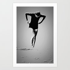 Woman Emerging (a) Art Print