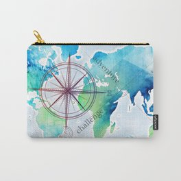 Watercolor map Carry-All Pouch
