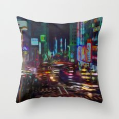 Litros city Throw Pillow