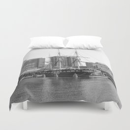 A US Frigate Ship in Baltimore, MD Duvet Cover