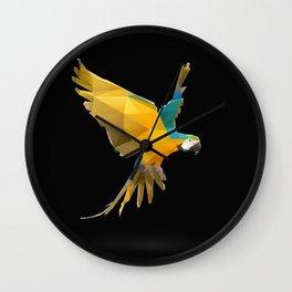 Macaw. Wall Clock