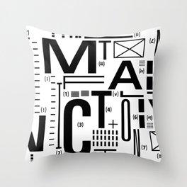 METAL FICTION Throw Pillow