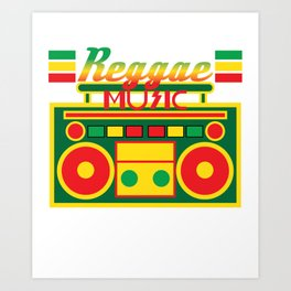 Fan of Reggae Music? Wear it anytime you want with this awesome colorful and creative tee design! Art Print